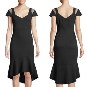 PARKER Grace Black BodyCon Cocktail Dress